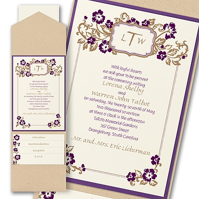 Country Chic - Layered Pocket Invitation