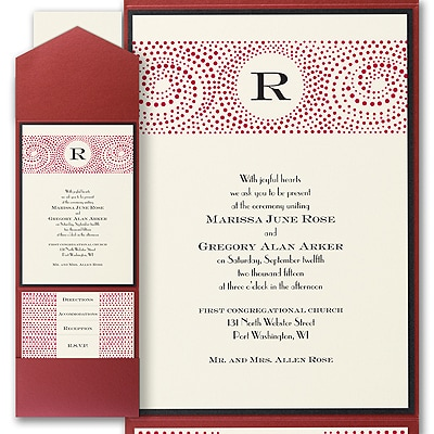 Retro Circles - Layered Pocket Invitation