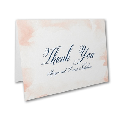 Romantic Watercolor - Thank You Card and Envelope
