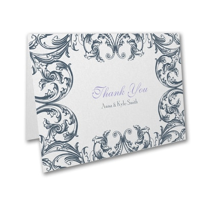 Formal Flourish - Thank You Card and Envelope