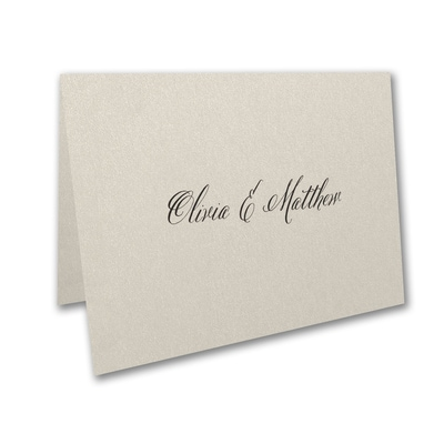 Sophisticated Type - Thank You Card and Envelope