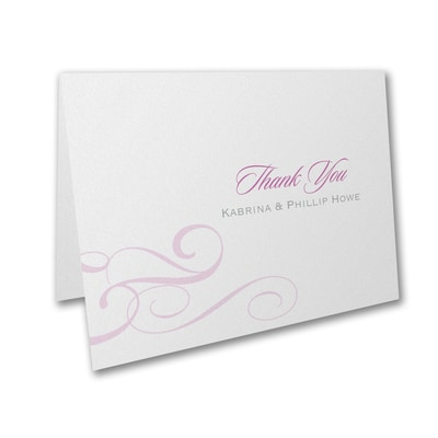 Charming Type - Thank You Card and Envelope