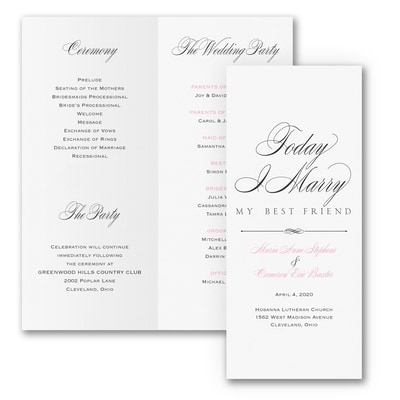Marry Today - Program
