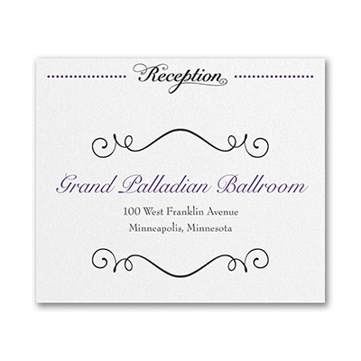 Avenue of Dreams - Reception Card