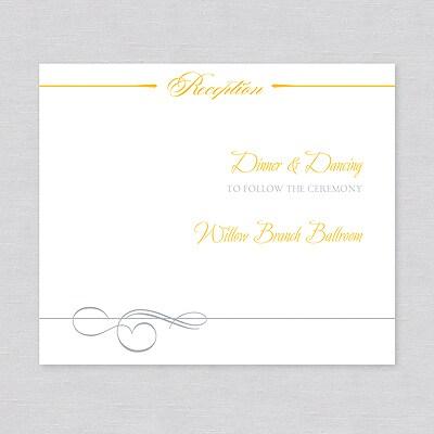 Sleek Simplicity - Reception Card