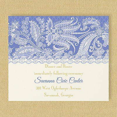 Lace Artistry - Reception Card