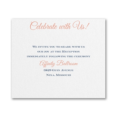 Timeless Elegance - Reception Card