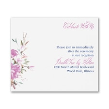 Enchanted Garden - Floral - Reception Card