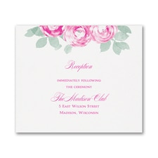 Lovely Roses - Reception Card