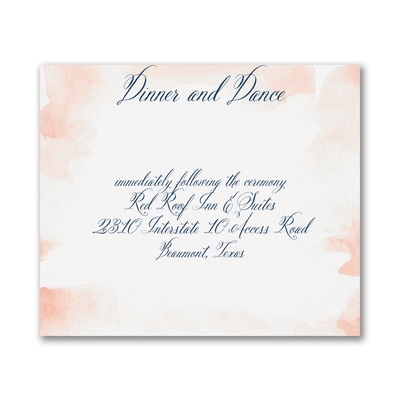 Romantic Watercolor - Reception Card