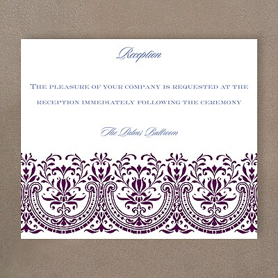 Hearts of Glory - Reception Card