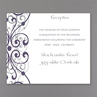 Stately Scrolls - Reception Card
