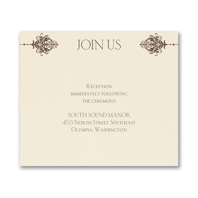 Delightful Damask - Reception Card