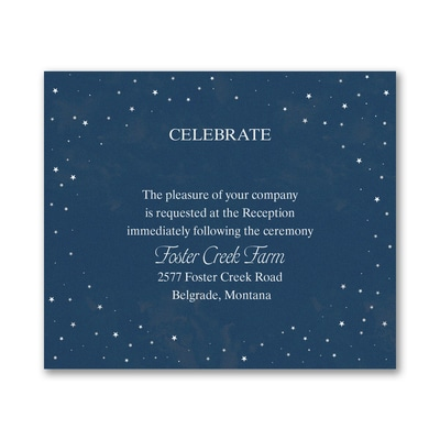 Wish Upon a Star - Reception Card