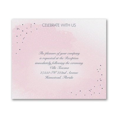Champagne Wedding - Reception Card