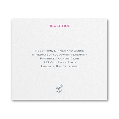 Floral Monogram - Reception Card
