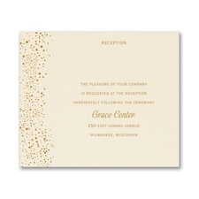 Champagne Delight - Reception Card