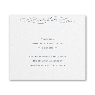 Sophisticated Script - Reception Card
