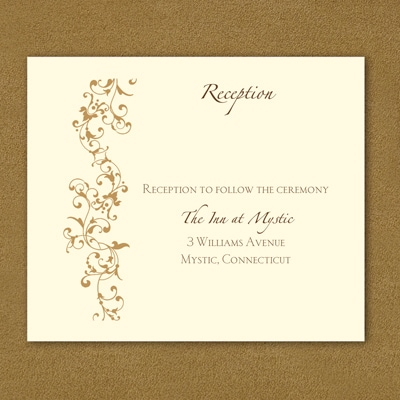 Thermo French Floret - Reception Card