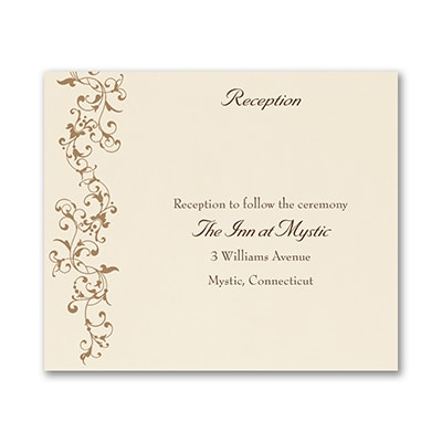 French Floret - Reception Card