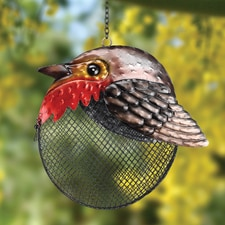 Robin Full Belly Birdfeeder