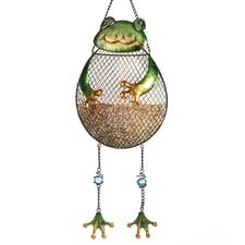 Frog Full Belly Birdfeeder