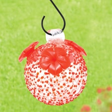 Red Textured Hummingbird Feeder