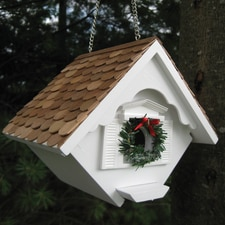 White Christmas Wren Nesting Box