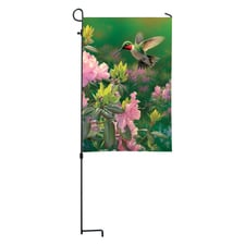 Hummingbird Mini Garden Flag