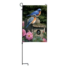 Bluebird Mini Garden Flag