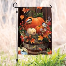 Pumpkin Barrel Garden Flag
