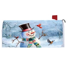 Snowman and Friends Mailbox Cover