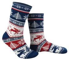 Snowflake Moose Socks