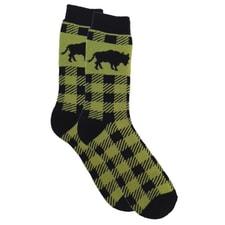 Northwoods Bison Plaid Socks