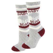 Baby Bear Sherpa Socks in Red