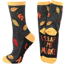 Leaf Me Alone Socks