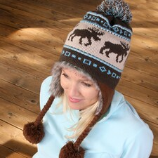 Northwoods Moose Earflap Hat