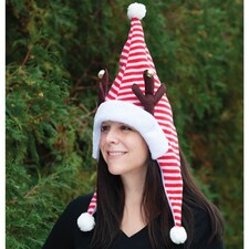 Santa with Antlers Hat