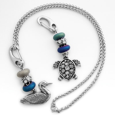 Turtle/Loon Necklace Set