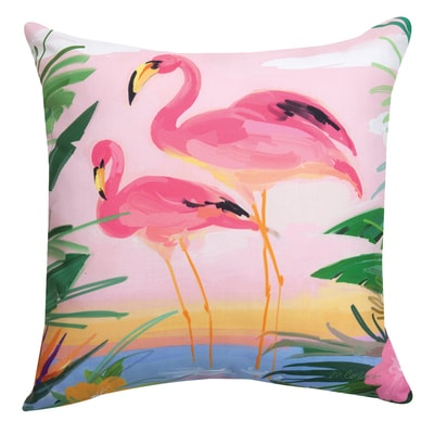 Flamingo Art Pillow