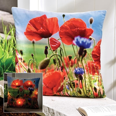 Poppy LED Lighted Pillow