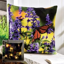 Butterfly LED Lighted Pillow