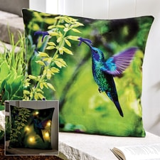 Hummingbird LED Lighted Pillow