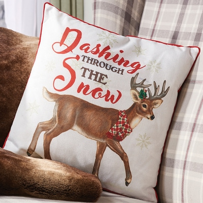 Dashing Through the Snow Pillow