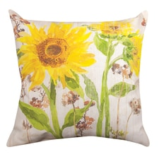 Autumn Glow Sunflowers Pillow