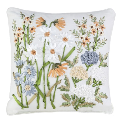 Ribbon Art Garden Pillow