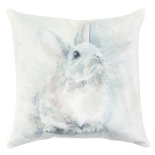 Rabbit Watercolor Pillow
