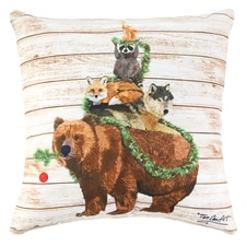 Woodland Yuletide Pillow