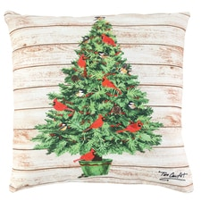 Cardinal Yuletide Pillow