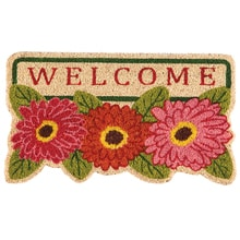 Floral Welcome Coir Mat